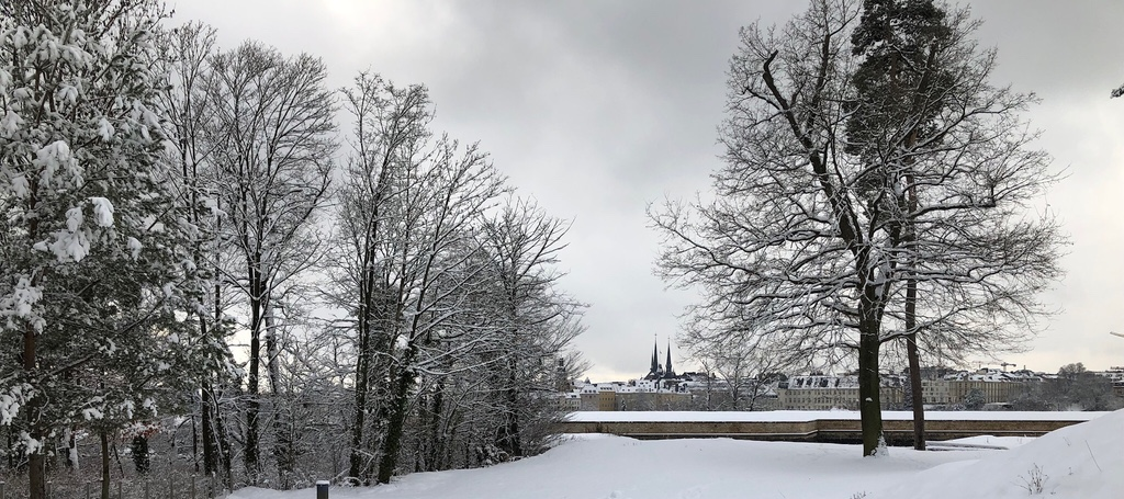 Luxembourg with snow
